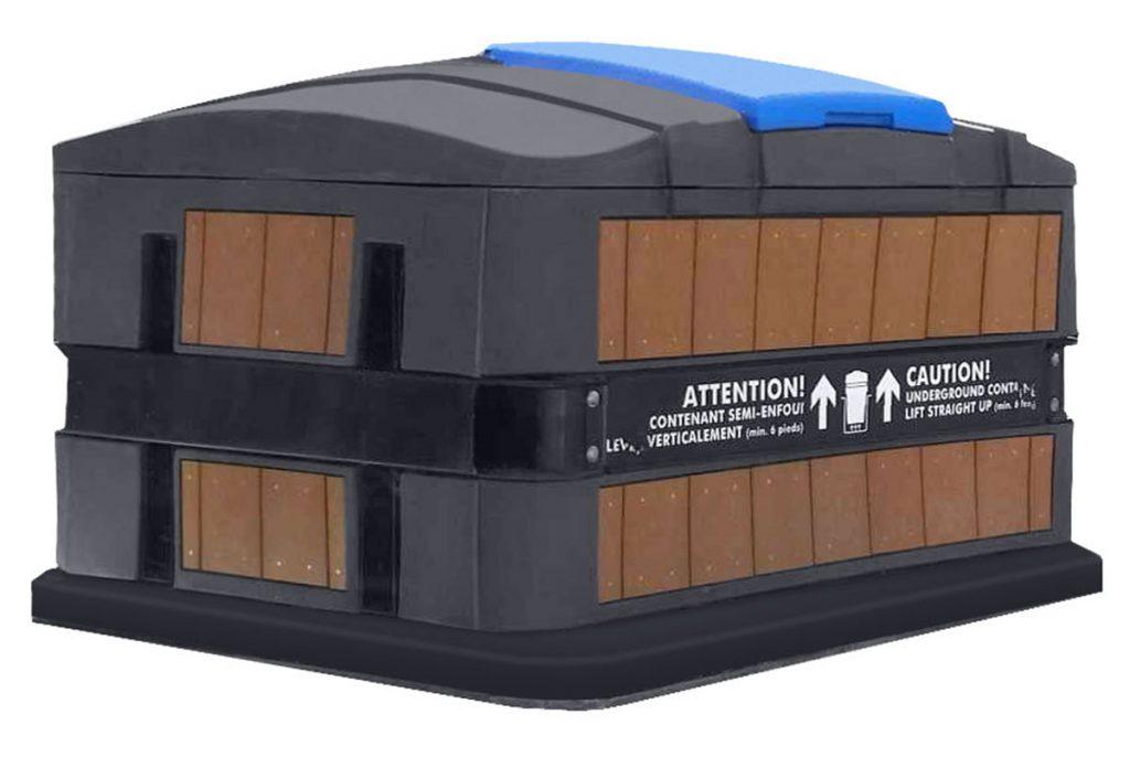 Semi-underground container